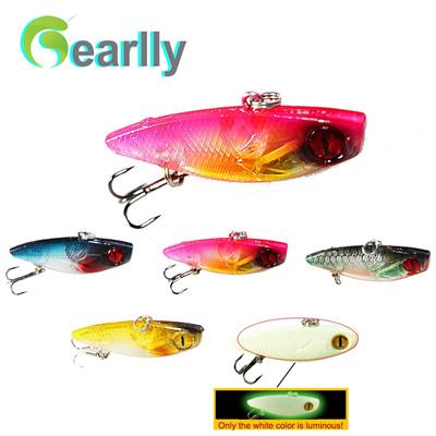 5pcs/lot 14g/6cm 3D eyes luminous VIB fishing lure fish bait lake river sea  saltwater fishing pesca