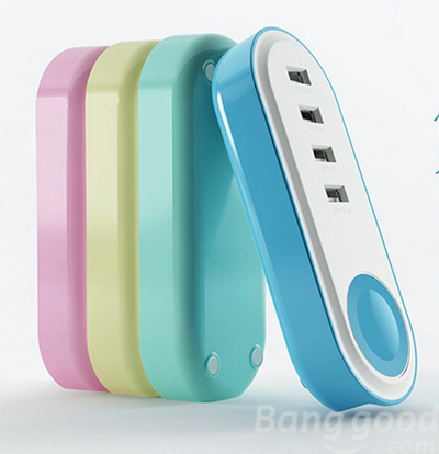 5V 4A 4-Ports USB Smart Charger Adapter For iPhone iPad Samsung Nexus Huawei