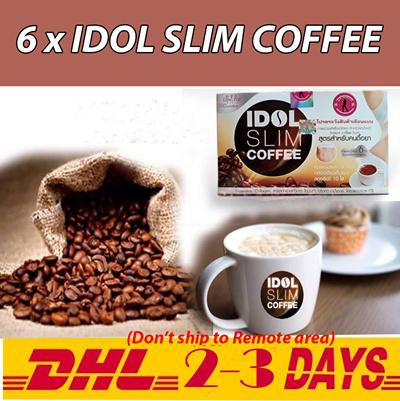6 X Idol Slim Coffee Powder Drink Instant Diet Weight Loss Dhl Shipping 2 3 Days