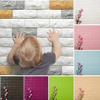 Qoo10 60 30cm Creative Diy 3d Wallpaper Pe Foam Wall