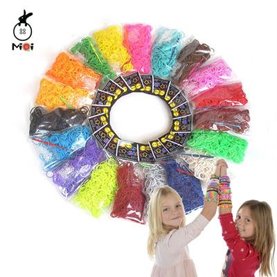 600pcs silicone rubber diy loom bands bracelets & bangles women fashion  female charms bracelets