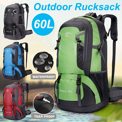 c0380283d686 60L Waterproof Outdoor Travel Backpack Sports Bag Camping Hiking Climbing  Trekking Mountaineering Ru