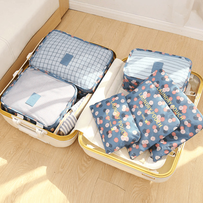 223090bd757f 6pcs/set Travel Organizer Storage Portable Luggage Organizer Clothes Tidy  Pouch Suitcase Packing