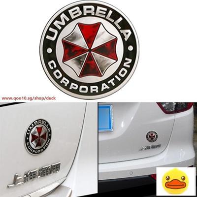 75cm Umbrella Corporation Metal 3d Resident Evil Umbrella Car Sticker Badge A Size 1 Color Whit