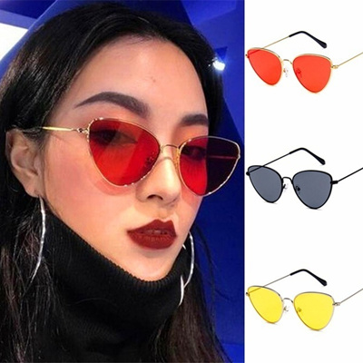 07021f98d06 Qoo10 - 7 Colors Cat Eye Tinted Color Lens Women Sunglasses Ladies Eyewear  Bea...   Women s Clothing