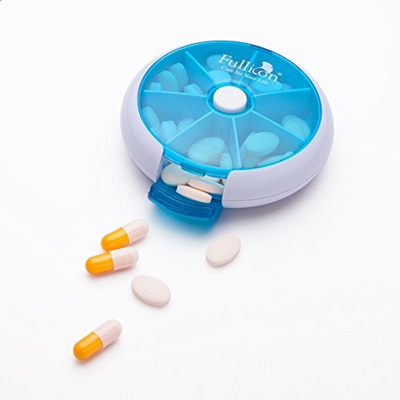 Qoo10 - 7 Day Round Pill Organizer Case, Small Portable Medicine Weekly Pill.....    Household   Bedd. 21568b54ed8b