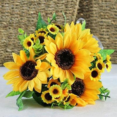 Qoo10 7 heads beauty fake sunflower artificial silk flower bouquet 7 heads beauty fake sunflower artificial silk flower bouquet home floral decor color yellow mightylinksfo