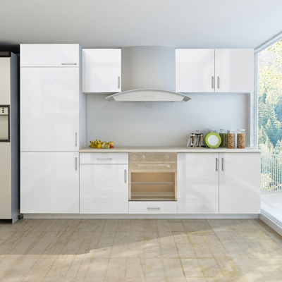 Qoo10 7 Pcs High Gloss White Kitchen Cabinet Unit For Built In