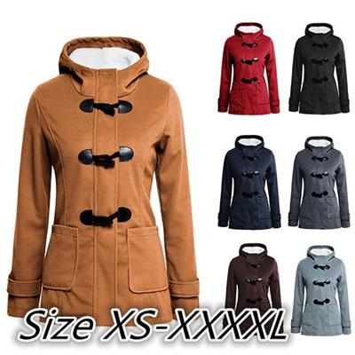 7 Warna Ukuran Plus Wanita Baju Tanduk Wol Lengan Panjang Jaket Lambang  Hoodies Musim semi musim 04321461e3