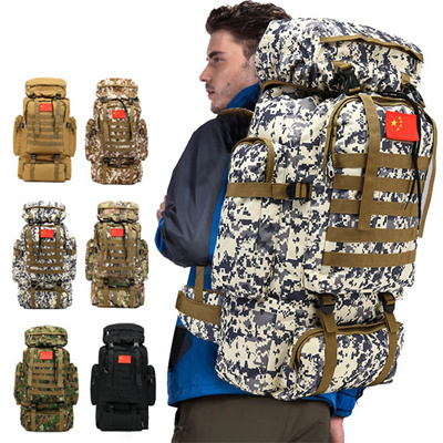 Qoo10 70l Mens Fashion Army Patrol Day Pack Rucksack Tactical