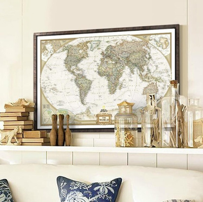 Qoo10 72cm 47cm fashion large vintage retro paper world map 72cm 47cm fashion large vintage retro paper world map poster children gifts wall chart decoration gumiabroncs Image collections