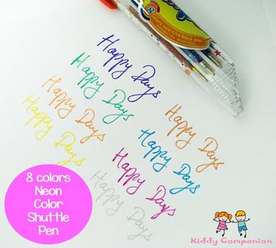 8 Colors Neon Shuffle ballpoint pens/Teachers Day gift/Birthday  gift/children day gift/Xmas gift