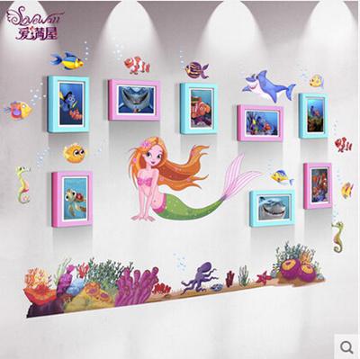 Qoo10 - 8 frame 7-inch Personalized Mermaid Princess Solid wood ...