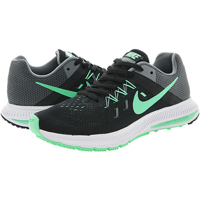 31e6f1cc41fa4 Qoo10 -  807279-003  W NIKE ZOOM WINFLO 2 BLACK GREEN GLOW-CL GREY-WHITE    Men s Bags   Shoes