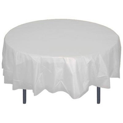 84 Exquisite Form Clear Round Plastic Table Cover Matte Cloth Disposable
