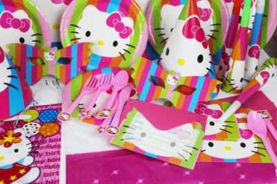 Qoo10 84pcs Lot Hello Kitty Theme Package Kids Birthday Decoration