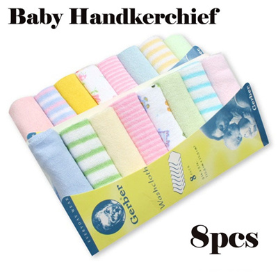 10a90bcdfc2c 8pcs in 1 pack Baby Handkerchief / Newborn Baby Towel Infant Washcloth