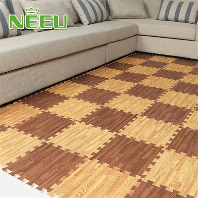 Qoo10 9 Pieces Lot Wooden Floor Mats Mosaic Puzzle Mats Living