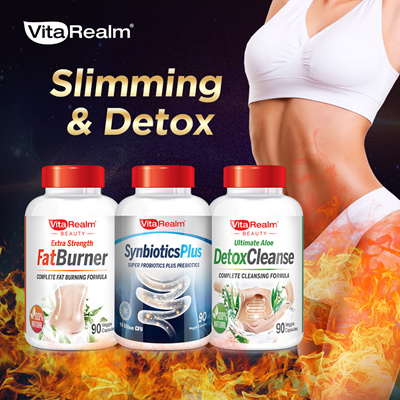 90 Capsules Detox Slimming And Probiotics Limited Vitarealm Special Only