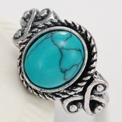 Fashion Women/'s Natural Bleu Turquoise Gemstone 925 Solid Sterling Silver Ring