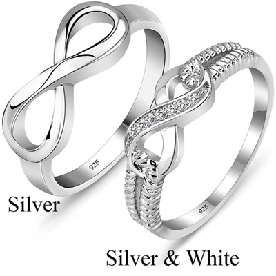 Qoo10 925 Sterling Silver Forever Love Friendship Infinity