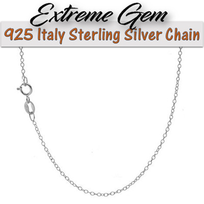 18K Gold Over 925 Sterling Silver 1mm Italian Cable Chain Necklace