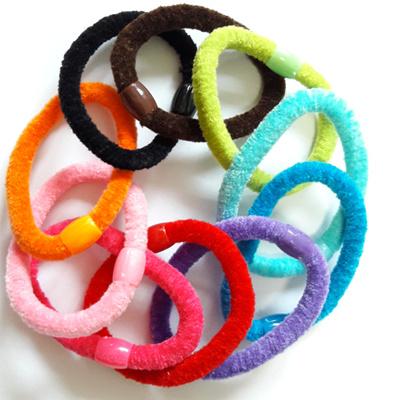 ☆95-100PCS FOR  8  non tangle velvet hair tie ☆ mix colors hair 447d7271e39
