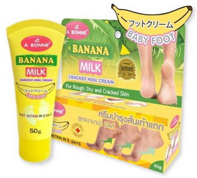 A BONNE BANANA MILK CRACKED HEEL CREAM –For rough Dry and cracked skin  –Baby Foot 50g