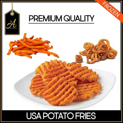 [A-Chef] USA Potato Fries - Curly Fries / Sweet Potato Fries / Waffle Fries
