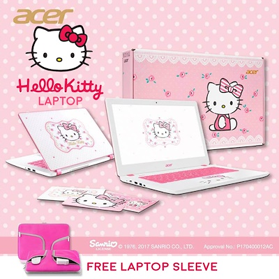 77b16b8d6 Acer Aspire V13 Hello Kitty Limited Edition Laptop (V3-372-56PT) -