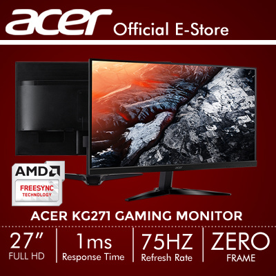Qoo10 acer kg271 computer game acer kg271 27 169 full hd monitor with 75hz refresh rate fandeluxe Gallery