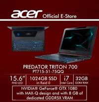 Acer Predator Triton 700 PT715-51-75QQ Gaming Laptop NVIDIA GeForce GTX 1080 with MAX-Q design Image
