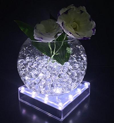 Qoo10 Acmee 5 Inch Acrylic Square Led Vase Base Ligthtplate Light