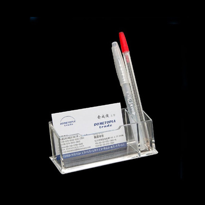 Qoo10 card pen holder stationery supplies acrylic clear business card pen holder display stand colourmoves