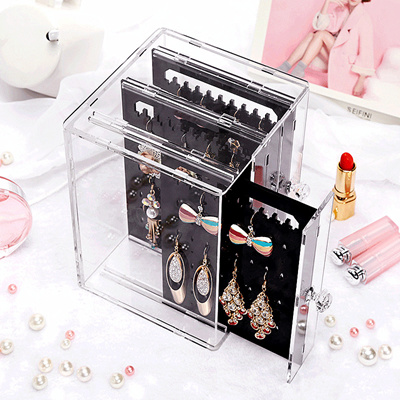 Qoo10 Acrylic jewelry stackable organizer earring nacklace ring