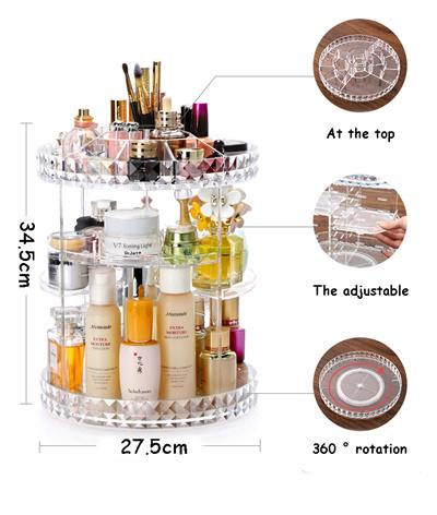 b1445fc5ffe2 Acrylic Stackable cosmetic organizer jewelry Organizer brush holder Makeup  box Transparent Storage