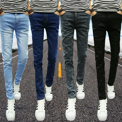 largest selection of special buy classic styles Add plush padded jeans fall/winter men s feet pencil pants stretch skinny  slim straight long leisure