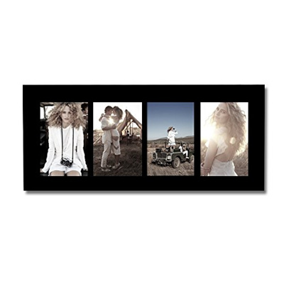 Qoo10 - Adeco [PF0422] 4-Opening Black Wood Collage Picture Photo ...