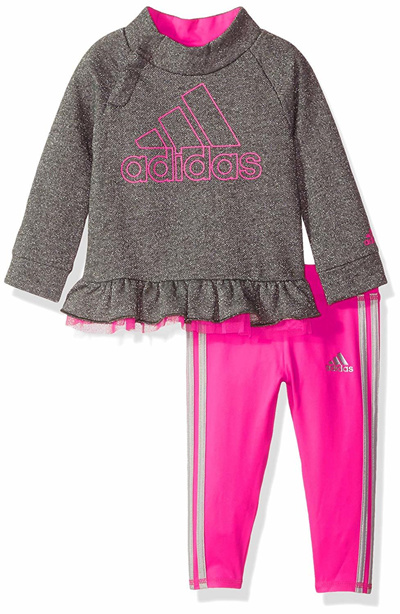 68d086bd6bb0 Qoo10 - Adidas adidas Baby Girls Hoodie and Legging Set   Baby   Maternity