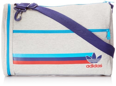 (adidas) adidas Men s Jersey Airliner 2 Shoulder Bag - Grey Heather Solar d69f23500c