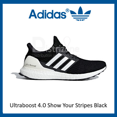 adidasAdidas Ultraboost 4.0 Show Your Stripes Black (Code: AQ0062) [Preorder]