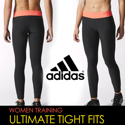 Adidas women fitness training ultimate climalite tight fit pants for  aerobics work out exercise cycling gym