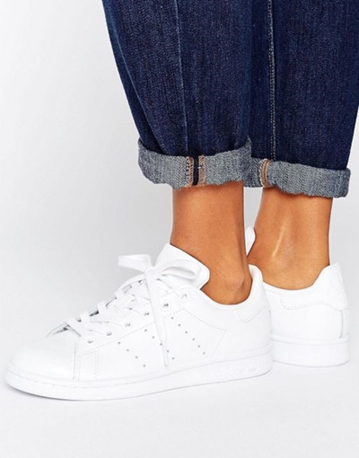 sale retailer 6632c f00b3 adidas Originals All White Stan Smith Sneakers