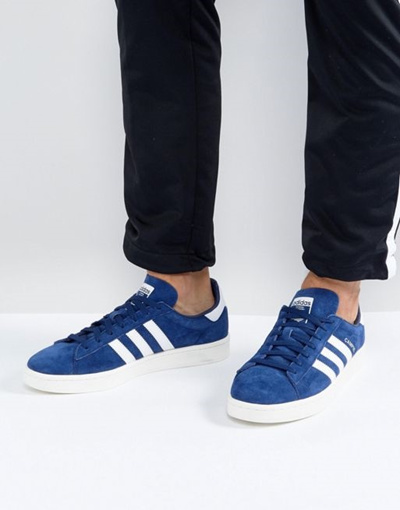 official photos fc48d 2ccd4 adidas Originals Campus Sneakers In Blue BZ0086