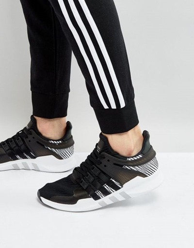 the best attitude f57b1 f6c8c adidas Originals EQT Support ADV Sneakers In Black BY 9585