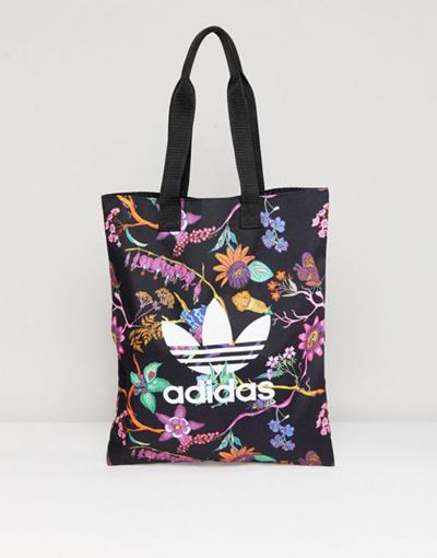 5643c699d2 Qoo10 - adidas Originals Floral Print Reversible Tote Bag   Bag   Wallet