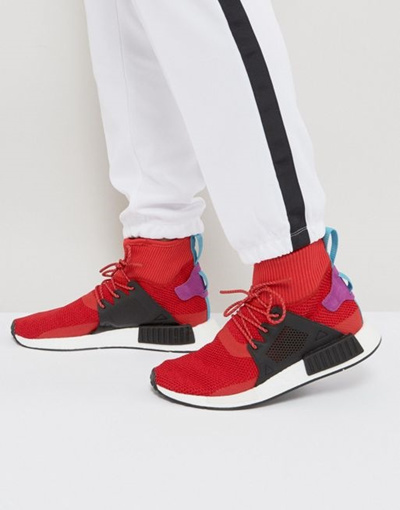 check out d4151 508f7 adidas Originals NMD XR 1 Winter Sneakers In Red BZ 0632