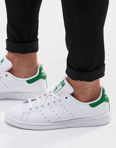 best website 4b52c 0fd99 adidas Originals Stan Smith Leather Sneakers In White M20324