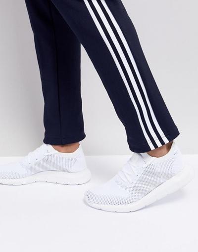 qoo10 adidas originali swift run primeknit scarpe bianche cq
