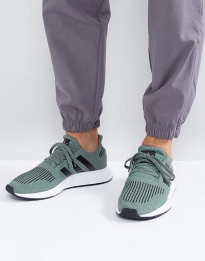 dcab6d546 Qoo10 - adidas Originals Swift Run Sneakers In Green CG 4115   Shoes